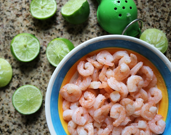 shrimp with lemon